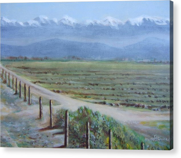 Landscape Acrylic Print featuring the painting Central Valley At Tulare by Howard Stroman