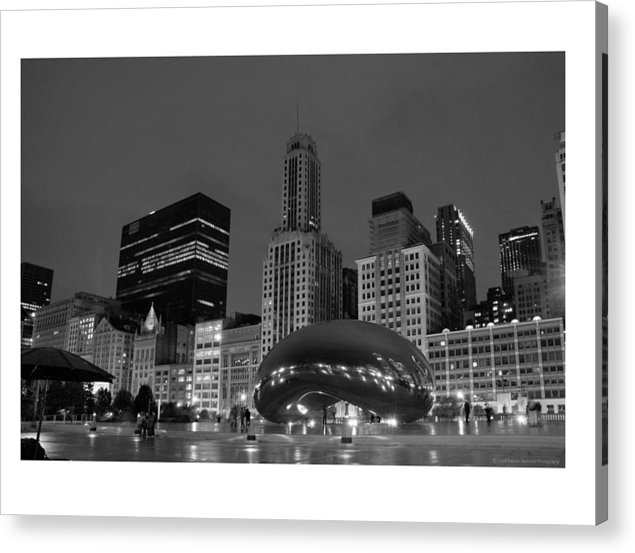 Chicago Acrylic Print featuring the photograph Chicago Park In Lights by Patrick Warneka