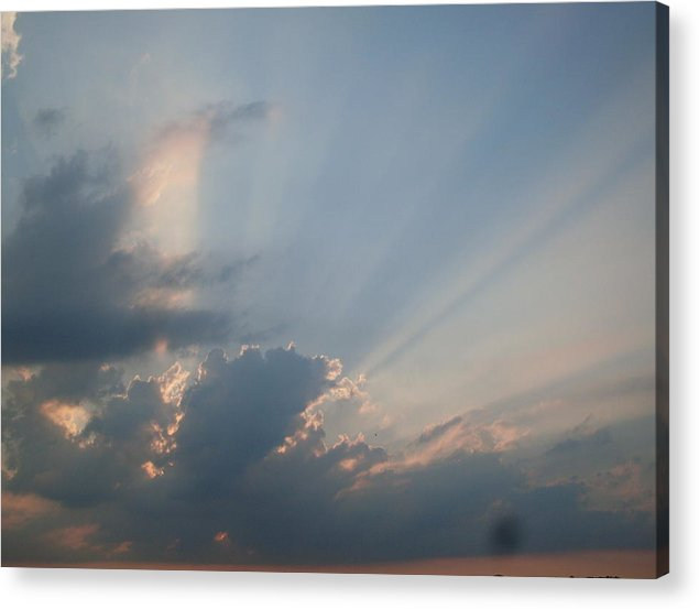 Storm Acrylic Print featuring the photograph Hope Beyond The Storm by Laura OLoughlin