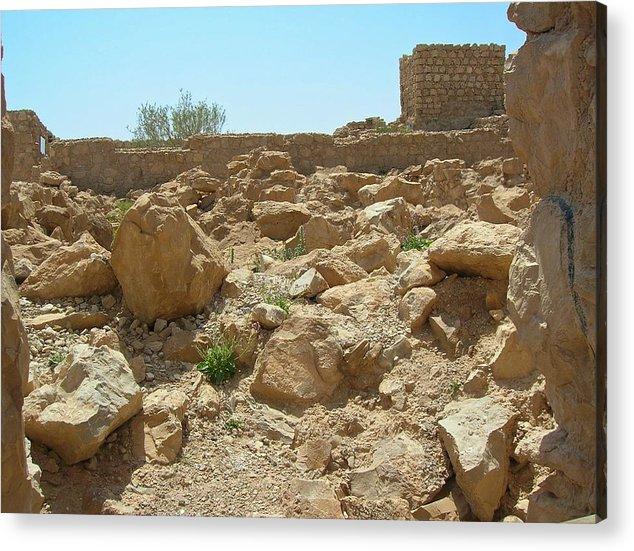 Israel Acrylic Print featuring the photograph Masada I by Susan Heller