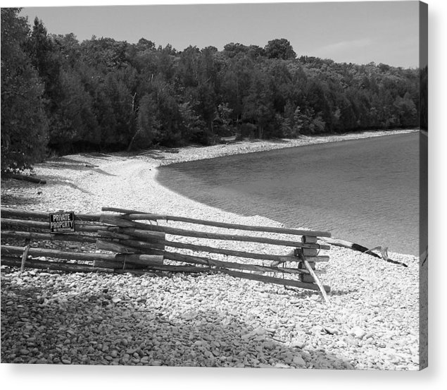 Landscape Acrylic Print featuring the photograph Private Property by Thomas Shepherd