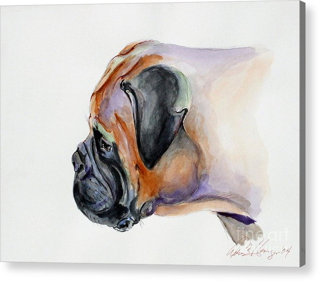 Dog Acrylic Print featuring the painting Sister by Adele Pfenninger