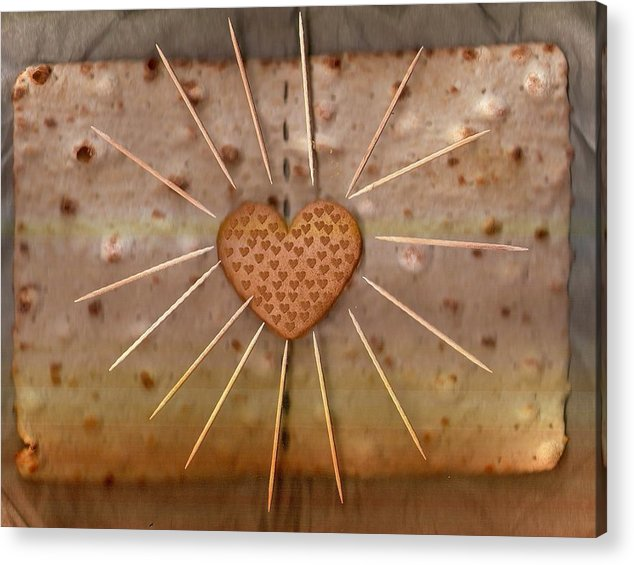 Heart Acrylic Print featuring the mixed media Bread Sunshine And Love by Pepita Selles