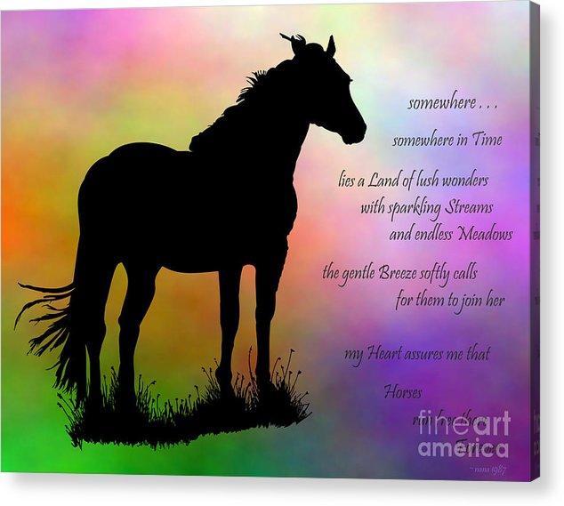 Horse Acrylic Print featuring the digital art Somewhere by Marianne NANA Betts