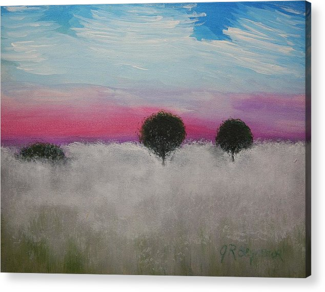 Impressionism Acrylic Print featuring the painting Morning Dew And I'm Thinking Of You by J R Seymour