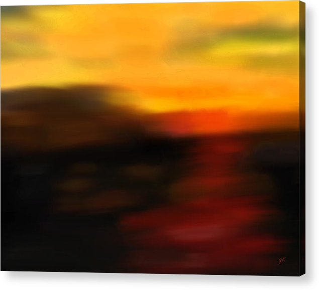 Abstract Art Acrylic Print featuring the painting Day's End by Gerlinde Keating - Galleria GK Keating Associates Inc