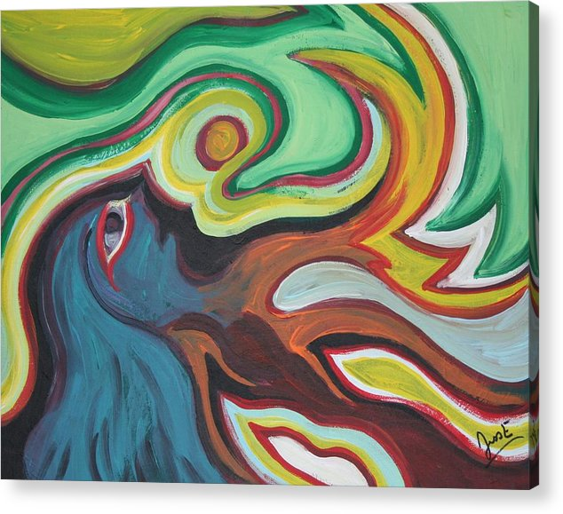 Figurative Acrylic Print featuring the painting Waking by Jessica Kauffman