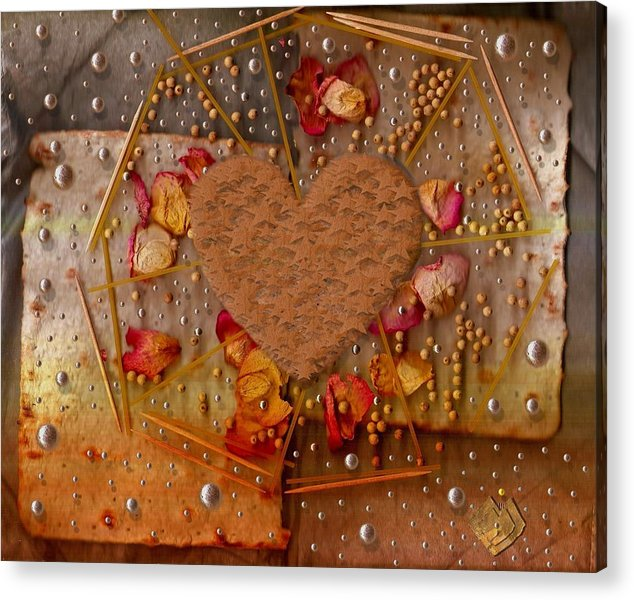 Cookie Acrylic Print featuring the mixed media In Cookie And Bread Style by Pepita Selles