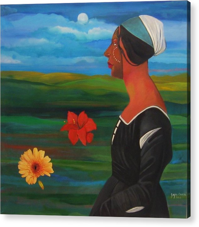 Figure Acrylic Print featuring the painting Revealed Truths And Myths 7 by Joyce Owens