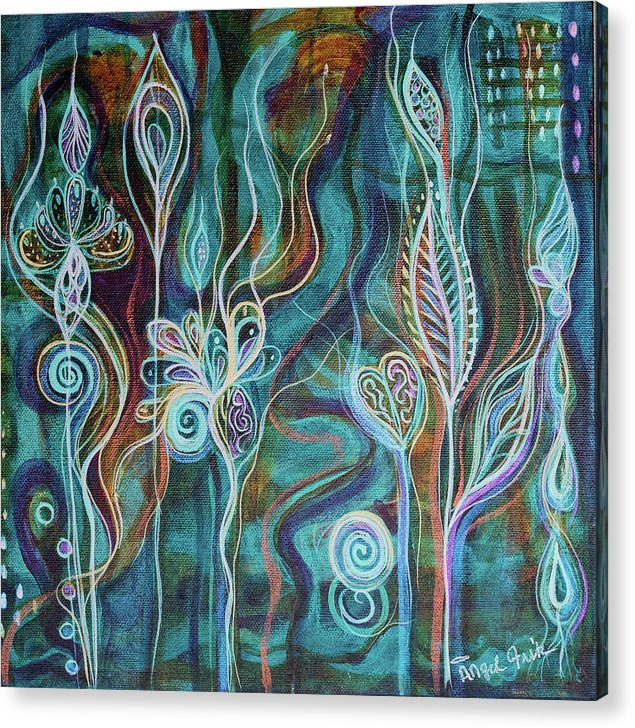 Intuitive Art Acrylic Print featuring the painting Bling Bling by Angel Fritz