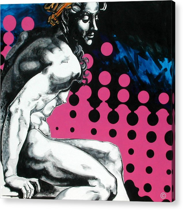 Pop Acrylic Print featuring the painting Ignudo by Jean Pierre Rousselet