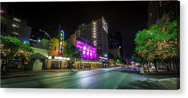 Austin Acrylic Print featuring the photograph Congress Street In Downtown Austin by David Morefield