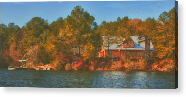 Farm Acrylic Print featuring the photograph Lake House by Brenda Bryant