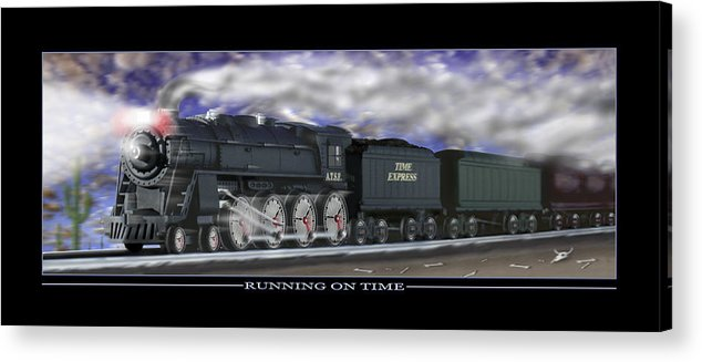 Time Related Art Acrylic Print featuring the photograph Running On Time by Mike McGlothlen