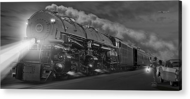 Transportation Acrylic Print featuring the photograph The 1218 On The Move - Panoramic by Mike McGlothlen