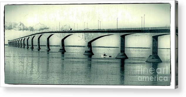 Prince Acrylic Print featuring the photograph The Confederation Bridge Pei by Edward Fielding