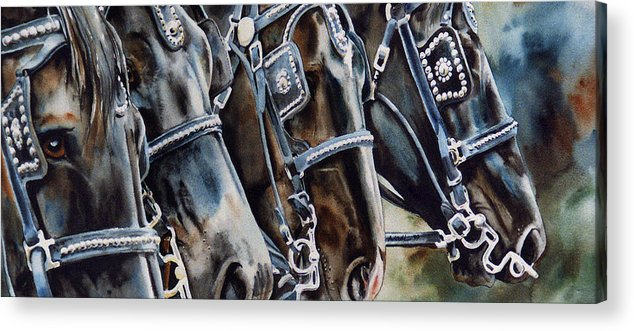 Shire Acrylic Print featuring the painting 4 Shires by Nadi Spencer