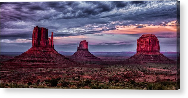 Landscape Acrylic Print featuring the photograph Monument Valley Mittens by Steven Hirsch