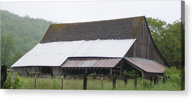 Old Acrylic Print featuring the photograph Old Big Barn Washington State by Laurie Kidd