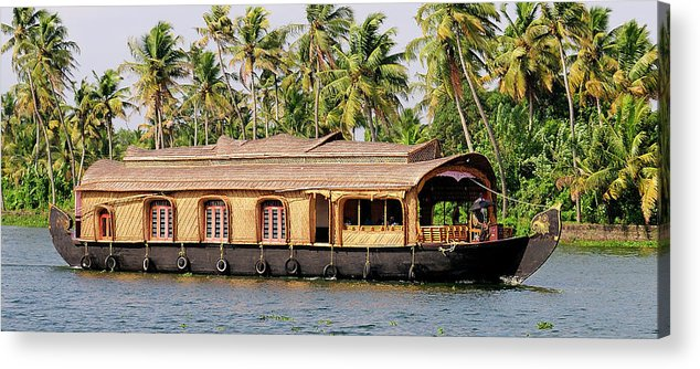 Asia Acrylic Print featuring the photograph Asia, India, Kerala (backwaters by Steve Roxbury