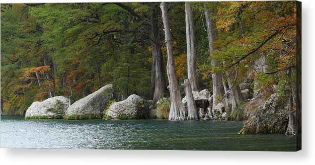 Fall Acrylic Print featuring the photograph Frio River 2 by Andrew McInnes