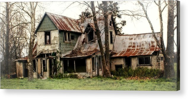 Haunted House Acrylic Print featuring the photograph Haunted by Marty Koch