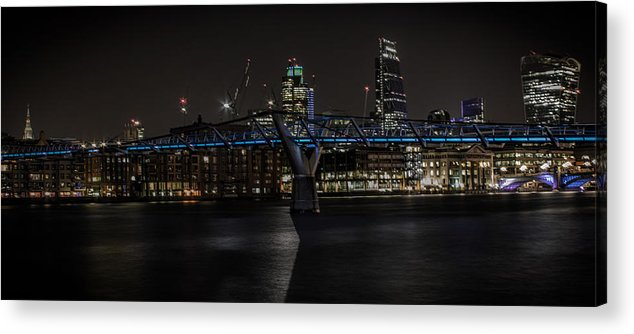London Acrylic Print featuring the photograph The Thames London by Martin Newman