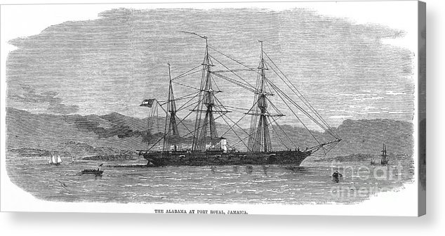 1863 Acrylic Print featuring the photograph Jamaica: Css Alabama, 1863 by Granger