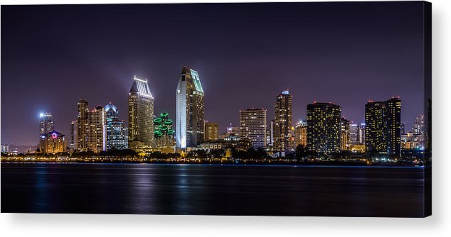 City Acrylic Print featuring the photograph San Diego Skyline by Alexander Kunz