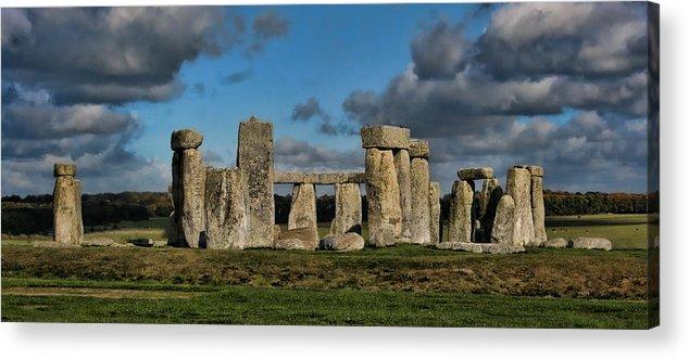 Stonehenge Acrylic Print featuring the photograph Stonehenge by Heather Applegate