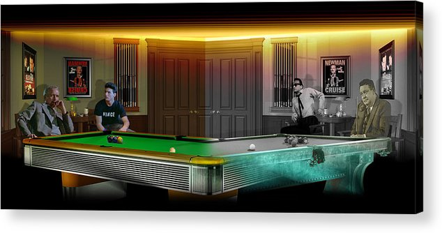 Pool Acrylic Print featuring the digital art Hustlers Of Color by Draw Shots