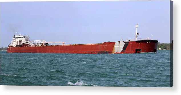Presque Isle Acrylic Print featuring the photograph Presque Isle Panorama 051718 by Mary Bedy