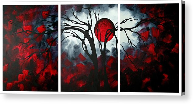 Abstract Acrylic Print featuring the painting Abstract Gothic Art Original Landscape Painting Imagine By Madart by Megan Duncanson