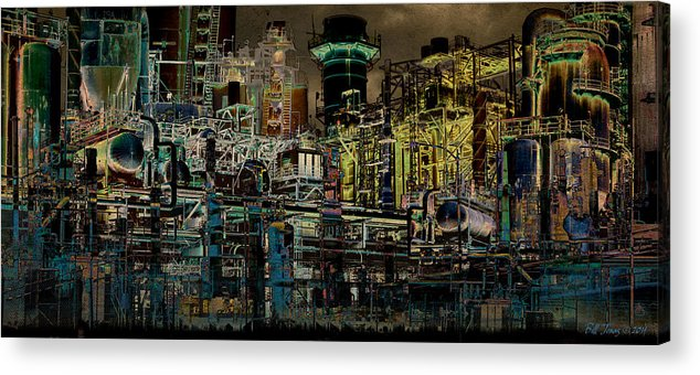 Industrial Acrylic Print featuring the photograph Dark City by Bill Jonas