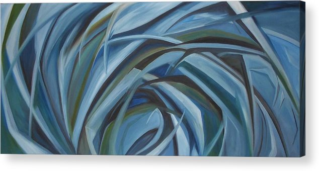 Futuristic Acrylic Print featuring the painting Cool Breeze by Carter Gillis