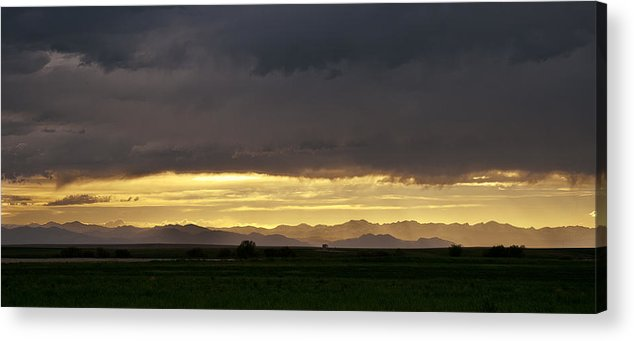 Clouds Acrylic Print featuring the photograph Passing Storm Clouds by Monte Stevens