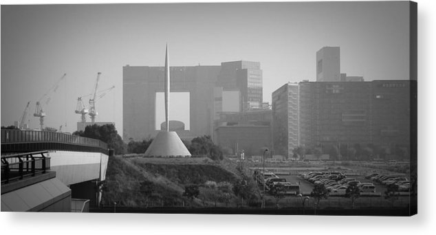 Tokyo Acrylic Print featuring the photograph Tokyo New Constraction by Naxart Studio