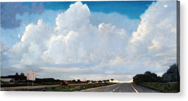 Street Acrylic Print featuring the painting Interstate 10 by Kevin Lawrence Leveque