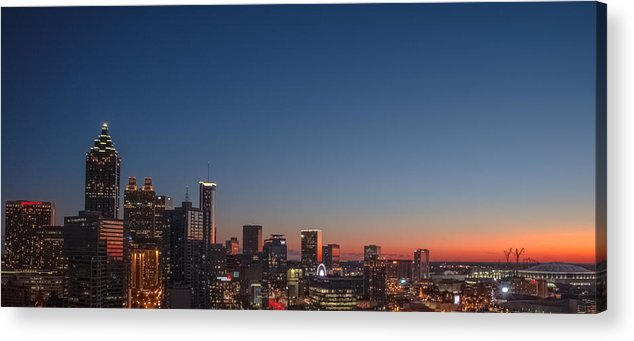 Downtown Acrylic Print featuring the photograph Atlanta by Mike Dunn