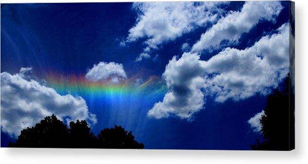 Heavens Rainbow Acrylic Print featuring the photograph Heavens Rainbow by Linda Sannuti
