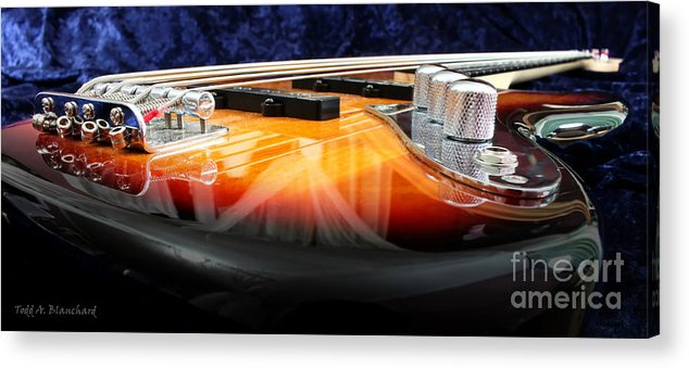 Still Life Acrylic Print featuring the photograph Jazz Bass Beauty by Todd Blanchard