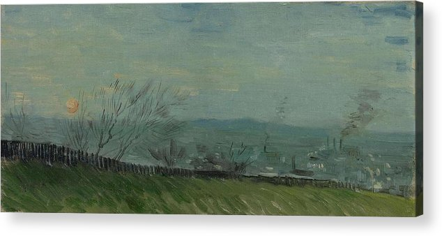 Nature Acrylic Print featuring the painting Sunset In Montmartre Paris, February - March 1887 Vincent Van Gogh 1853 1890 by Artistic Panda