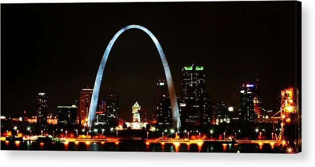 St Louis Acrylic Print featuring the photograph The Arch by Anthony Jones