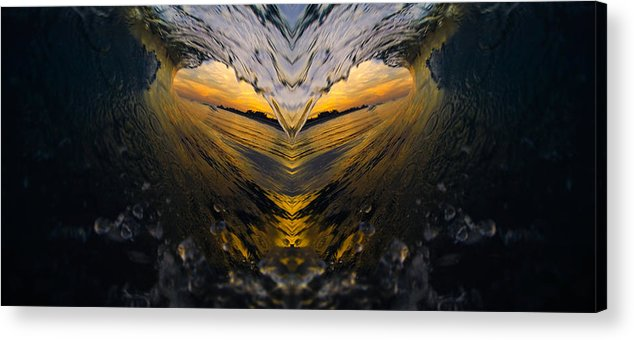 Ocean Acrylic Print featuring the photograph Wave Heart by JJ Tondo