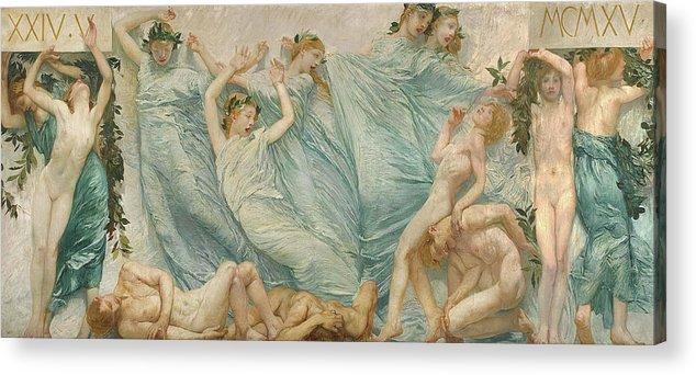 Giulio Aristide Sartorio Acrylic Print featuring the painting Reawakening by Giulio Aristide Sartorio