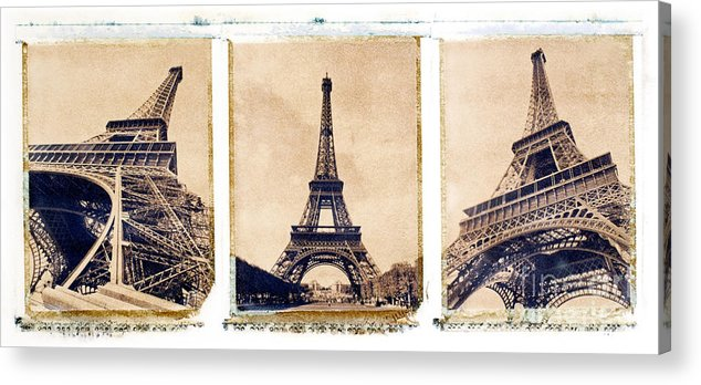 Eiffel. Tower Acrylic Print featuring the photograph Eiffel Tower by Tony Cordoza