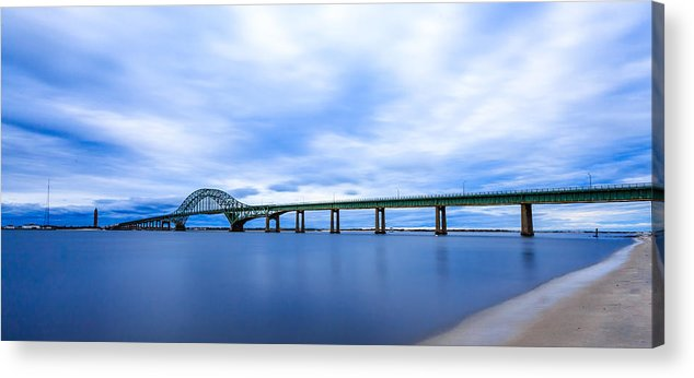 Bayshore Acrylic Print featuring the photograph Fire Island Inlet Bridge by Sean Mills
