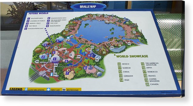 Future World Map Walt Disney World Digital Art Acrylic Print by ...