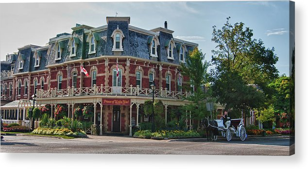 Architecture Acrylic Print featuring the photograph Prince Of Wales Hotel 9000 by Guy Whiteley