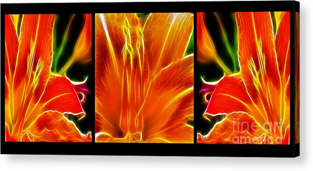 Flower - Lillies - Abstract Acrylic Print featuring the photograph Flower - Lillies - Abstract by Paul Ward